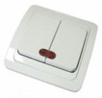 Выключатель Валдай с/у 2-клав. индикац. 10А