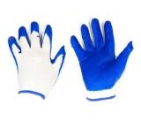 Перчатки нейлон обливные оранжевые/синие (12/960)