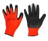 Перчатки нейлон анти-порез рефл. красно-черные (12/960)