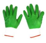 Перчатки нейлон анти-порез зеленые полный облив (12/600)