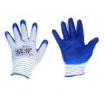 Перчатки нейлон матроска нитрил облив (синие) (12/960)
