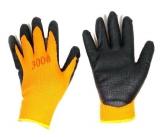 Перчатки нейлон утеплен. оранж-черные анти-порез (10/480)
