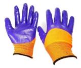 Перчатки нейлон полный облив оранж-сирен. (12/960)