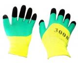 Перчатки нейлон полный облив с пальчиками (12/600)