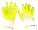 Перчатки нейлон гель-облив полный зеленые (12/600)